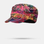 New Women Ethnic Style Printed Cap Hat Flat Cap