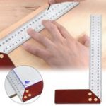 New 90 Degree Square Feet Mahogany Handle Thickened Stainless Steel Square Ruler Protractor 300MM Tool Accessories