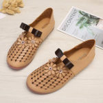 New Women Casual Flowers Hollow Out  Flats