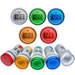 New 22MM AD16 AD16-22DSV Type AC 60-500V Mini Voltage Meter LED Digital Display AC Voltmeter Indicator Light/Pilot Lamp 110V 220V