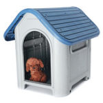 New Plastic Dog Kennel Pet Cat House Weatherproof Indoor Outdoor Animal Shelter Cover