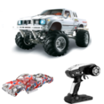 New HG P407 with 2 Shells 1/10 2.4G 4WD RC Car for TOYATO Metal 4X4 Pickup Truck RTR Vehicle