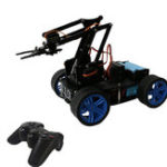 New PI Master' DIY 4WD Tracking Obstable Avoidance Smart RC Robot Arm Car With Wireless Stick Compatible Arduino