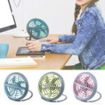 New Outdoor Mini Desk Fan USB Powered Portable Table Home Small Quiet Air Cooler