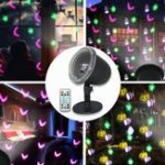 New 7.5W 4 LED Halloween Projection Stage Light Outdoor Remote Control Waterproof Lamp for Party Festival AC100-240V