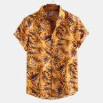 New Mens Summer Fashion Short Sleeve Printing Hawaiian Shirts