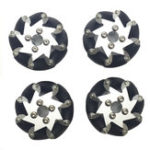 New 4PCS PI 50.8mm Omni Wheels For TT Motor RC Robot Car
