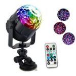 New 6 Colors USB DC5V 6W LED Magic Ball Stage Light Sound Activated Remote Control Projector Lamp for Car Room Club DJ Disco