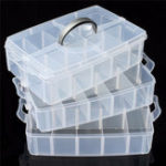 New 3-Layer Storage Case Detachable Plastic Cosmetic Tool Box Jewelry Holder Container 30 Grid