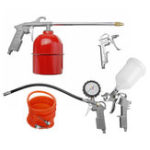 New 5pcs Vehicle Air Spray Painter Cleaning G-un Kit Duct Pneumatic Tools Set