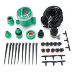 New 10/20M Hose Garden Irrigation System LCD Display Watering Timer Micro Drip Kit