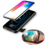 New Baseus 8000mAh QI LCD Wireless Charger Power Bank For iPhone XS for Samsung for iPhone S10 Xiaomi mi 9