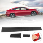 New 3PCS Carbon Fiber Center Dashboard Cover Trim Sticker For Honda Civic 2016 2017