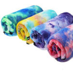 New Tie- dyed Sports Towel Quick-dry Soft Lightweight Outdoor Sports Fitness Running Towel