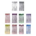 New 1 x 2M Metallic Foil Fringe Door Curtains Party/Christmas/Birthday/Wedding Photo Booth Props Backdrop Decor