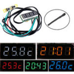 New 0.28 Inch 3-in-1 Time + Temperature + Voltage Display with NTC DC7-30V Voltmeter Electronic Watch Clock Digital Tube