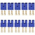 New 10 Sets EC3 Connector 3.5mm Gold Bullet Banana Plug Female Male RC ESC LIPO Battery Electric Motor Airplane Quadcopter Parts DIY