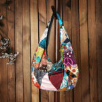 New Women Ethnic Canvas Vintage Flower Crossbody Bag
