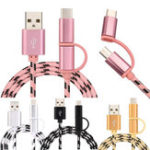 New Bakeey 3A 2 in1 Micro Type-C Fast Charging Nylon Weave Data Cable  With Packaging Tiger Pattern For HUAWEI P30 XIAOMI MI9 Oneplus 7 S10 S10+