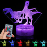 New 3D Illusion Night Light Touch Remote Control Gift Home Decor Sleeping Table Lamp