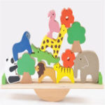 New Wooden Forest Stacking Animals Seesaw Building Blocks Balance Game Kids Science Educational Toys