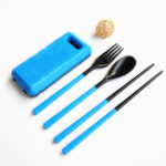 New Xmund XD-LG2 3 Pcs ABS Fork Spoon Chopstick Folding Tableware Camping Picnic Travel Portable Chinese Dinnerware Sets