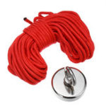 New D42mm 80KG Neodymium Magnet Salvage 304 Steel Recovery Fishing Kit with 20M Rope