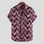 New Mens Summer Stripe Plaid Design Breathable Shirts