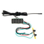 New 0.36 Inch 3-in-1 Time + Temperature + Voltage Meter Display with NTC DC7-30V Voltmeter Electronic Watch Clock Digital Tube