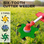 New Updated Grass Trimmer Head 6 Teeth Blade Trimmer Head Brush Cutter Blade for Lawnmower Green Yellow