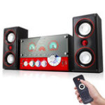 New SM-1506 Wooden HiFi Remote Control Home Speaker Multimedia Support bluetooth Karaoke Speaker System