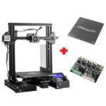 New Creality 3D® Customized Version Ender-3X Pro / Ender-3Xs Pro V-slot Prusa I3 3D Printer 220x220x250mm Printing Size With Magnetic Removable Sticker/Glass Plate Platform/V1.1.5 Super Silent Mainboard