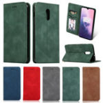 New Bakeey Flip Shockproof Card Slot With Magnetic PU Leather Full Body Protective Case For OnePlus 7