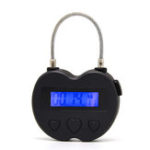 New USB Rechargeable Time out Padlock Max Timing Lock Digital Timer Alarming Padlock w/ LCD Display Screen