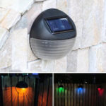 New Colorful Solar Light Garden Fence Landscape Wall Lamp