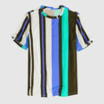 New Mens Fashion Colorful Stripe Printed Shirts