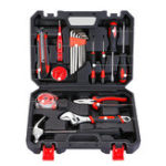 New 20Pcs Repair Hand Tool Set Home Household Kit with Screwdriver Wrench Hammer Tape Wire Cutter & Box