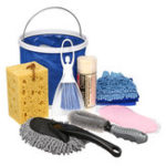 New 9 Pcs/Set Exterior & Interior Car Home Washing Tools Cleaning Kit Microfiber Glove Towel Brush Bucket