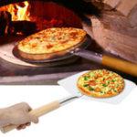 New Aluminium Pizza Spatula Peel Shovel Cake Lifter Plate Holder BBQ Grill Oven Stove Baking Tool