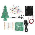 New DIY Three Color Light Audio Voice Control Spectrum Christmas Tree Kit With Battery Box