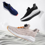 New Uleemark U-lacer Rotating Buckle Shock Absorption Running Shoes Two-color Intelligent Night Light Breathable Sports Men Sneakers From Xiaomi Youpin