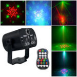 New Mini 60 Patterns Colorful LED Stage Laser Lighting Effect USB Light Projector for Wedding Birthday DJ Disco Party