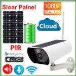 New JIENUO JN-Y9 Solar Panel Battery 1080P IP Camera Wifi Sloar CCTV Wireless Security Outdoor Indoor Waterproof Full HD Surveillance PIR Detection
