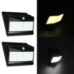 New 100 LED Solar Motion Sensor Light Outdoor 1000lm Waterproof Security Wall Night Light