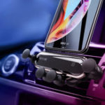 New Bakeey Upgrade Metal Gravity Linkage Automatic Lock Air Vent Car Phone Holder for 4.7-6.5 Inch Smart Phone iPhone XS Max Samsung Galaxy S10+