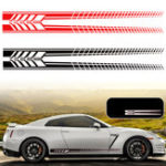 New Sports Racing Stripe Graphic Stickers Truck Auto Car Body Side Door Vinyl Decals