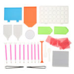 New 102Pcs 5D Diamond Painting Pen Cross Stitch Tools Set DIY Embroidery Tool Kit