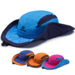 New Mens Foldable Breathable With String  Bucket Hat