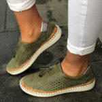 New Women Casual Hollow Out Fringe Loafers
