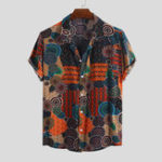 New Mens Summer 100% Rayon Ethnic Colorful Printed Casual Shirts